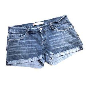 Levi's Shorty Short Cuffed Blue Jean Shorts 13